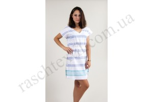 На фото Платье Barine - Fine Cotton Dress White-Navy Turquise синий