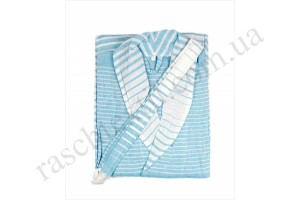 На фото Халат Home line Hammam Uf009 blue